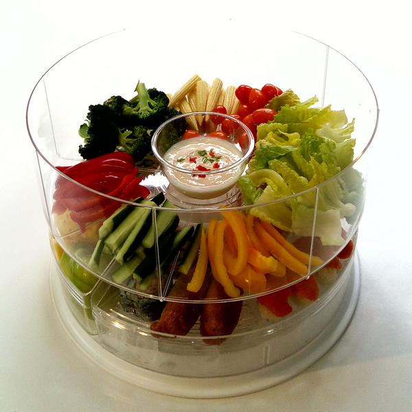 Appetizer Platter On-Ice with Lids Acrylic Tray